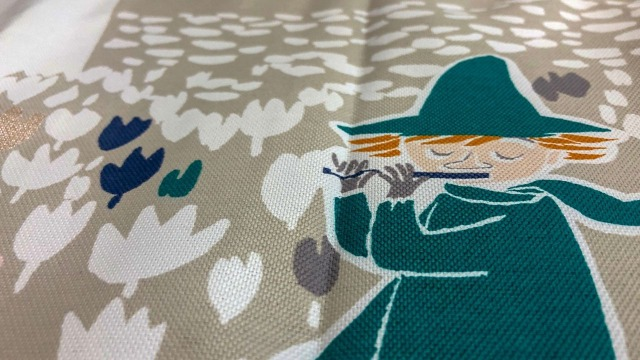 cucanで買ったムーミンの遮光カーテン
